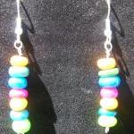 Earrings, Dangle, Multi Colored