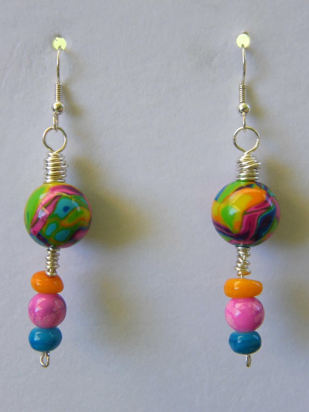 Earrings, Multi Colored