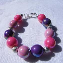 Pretty as a Princess Pink & Purple Bracelet