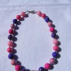 Pretty as a Princess Pink & Purple Necklace