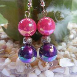 Pretty as a Princess Pink & Purple Earrings